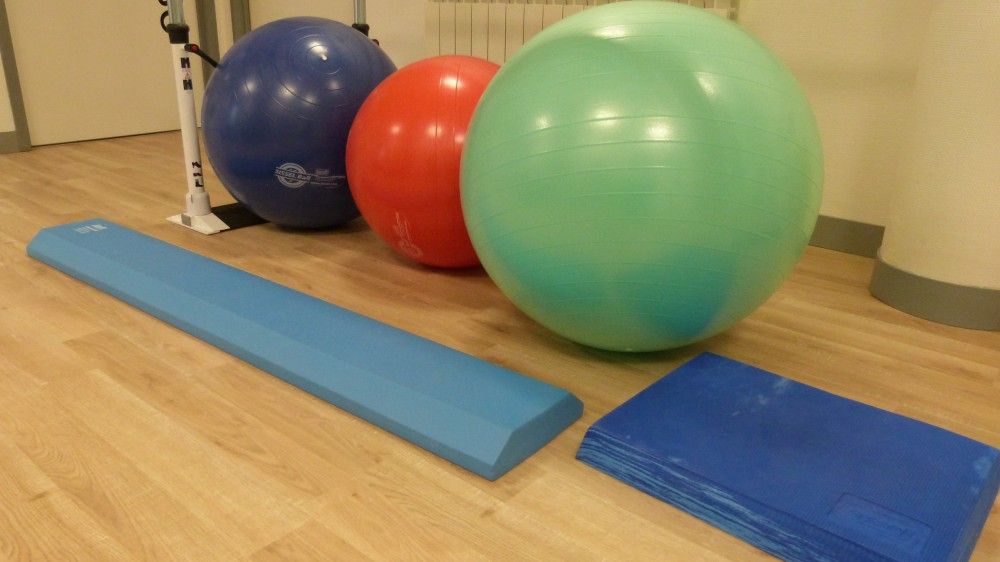 Swiss Ball et balance pad