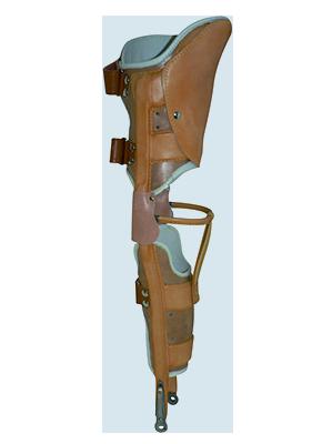 Orthèse curo-pédieuse « cuir-acier »