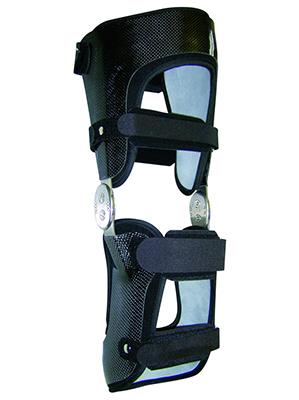 Orthèse de genou carbone avec garnissage 3D
