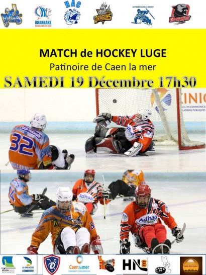 match de hockey luge à Caen