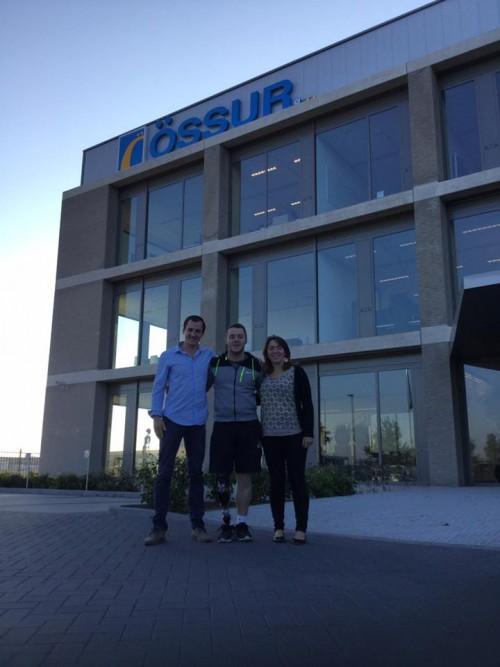 Une partie de l'équipe d'OPR chez Ossur aux Pays-Bas