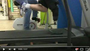 Vidéo de course avec une lame carbone en vitesse réelle et en ralenti