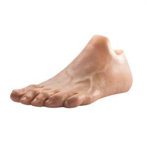 prothèse de pieds esthétique silicone haute définition pour agénésie. Fabriquée sur mesure par les orthoprothèsistes OPR, orthopédie en bretagne et en normandie