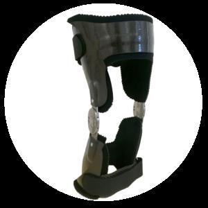 orthese de genou en carbone réalisé par orthese prothese reeducation cabinet d'orthopédie en bretagne à rennes