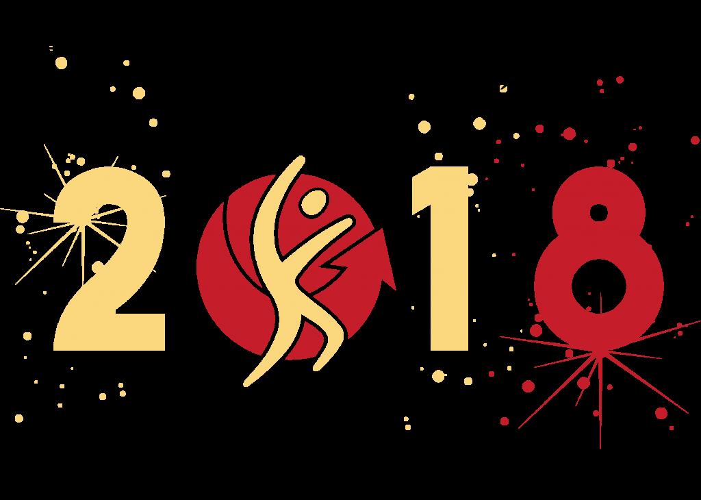 bonne année 2018 cabinet d'orthopédie vidéo d'illustration des voeuxæ