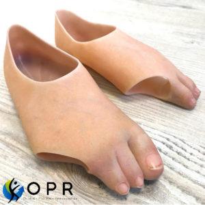 prothèse esthétique en silicone pour doigts de pieds coupés ou malformation nos nos cabinets d'orthopédie près de Saint -Lo et Rennes