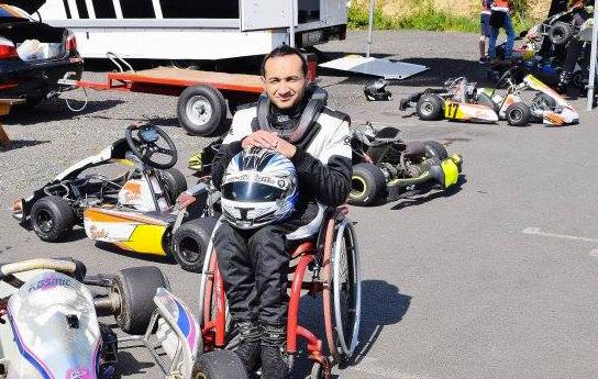 Pierre-Yves Baptiste, pilote handiracing et créateur de l'association P.YB Handiracing
