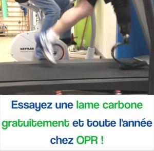 Essai de lames carbone facilement chez OPR