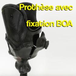 prothese de jambe avec systeme de fixation BOA près à Rennes et dans la manches