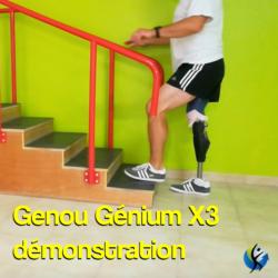 Genium genou X3 mecatronique pour amputé à la cuisse, fabrication de prothèses fémorales à Rennes en Ile et Vilaine et dans la manche