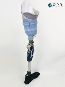 systeme BOA sur une prothèse de cuisse femorale réalisée pour personne amputée à rennes et Avranches en bretagne et en normandie