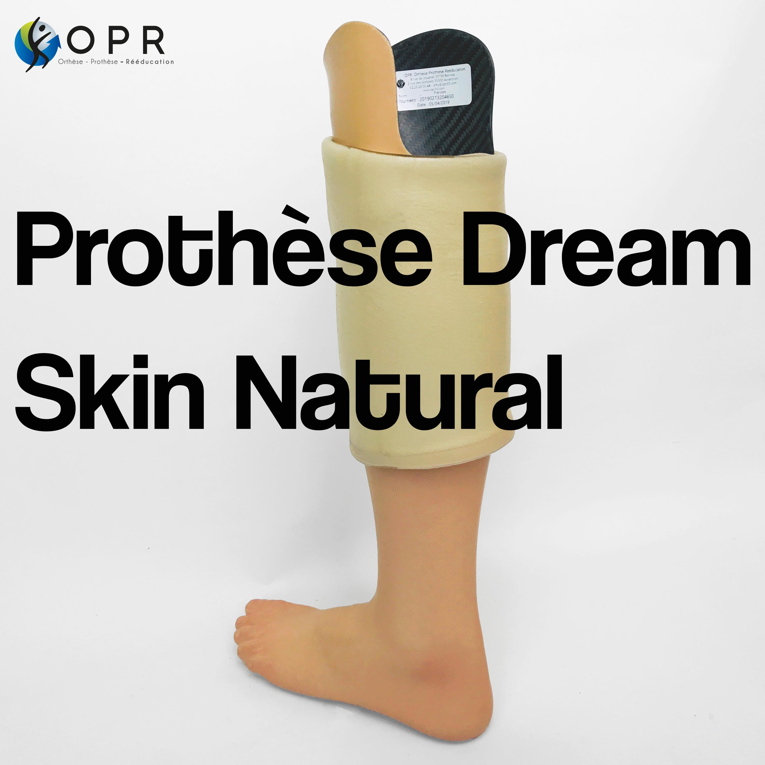 Prothèse avec esthétique en silicone intégrale Dream Skin Natural