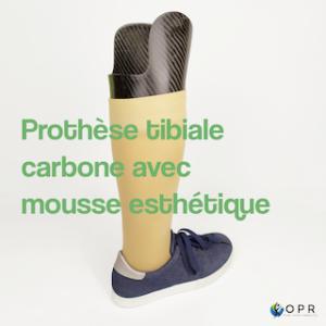 Prothèse en carbone avec mousse esthétique