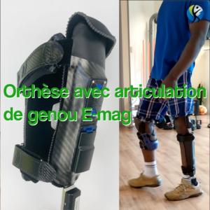 Orthèse avec articulation de genou E-mag active !