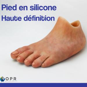 Livraison d'un pied esthétique silicone haute définition