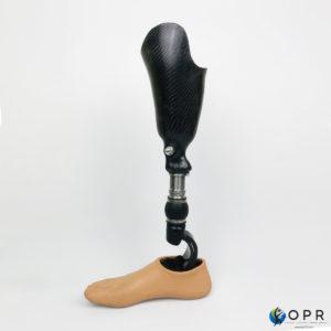 prothèse de jambe tibiale en carbone carbone très légére-s en bretagne à rennes et en normandie à Saint-Lô et Avranches