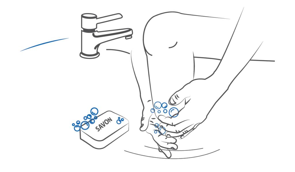 laver le moignon quotidiennement avec du savon neutre chaque jour