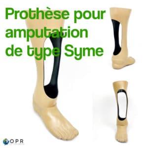 Prothèse pour amputation de type Syme
