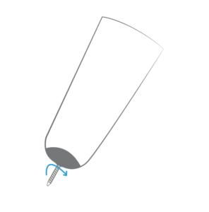Visser l'accroche dystal pour savoir si elle est correctement visée. Prothèse en Normandie et en BRetagne