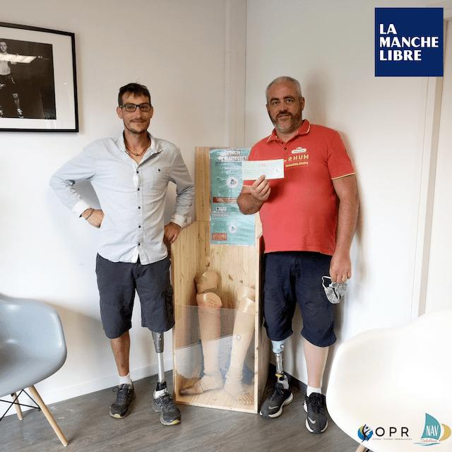 Article Manche Libre :  Ils recyclent des prothèses pour les plus démunis