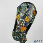 prothèse fémorale double fut personnalisée avec un motif de vitrail, de cathédrale de la société u-exist. Fabriquée en bretagne a rennes et en normandie a avranches et saint lo