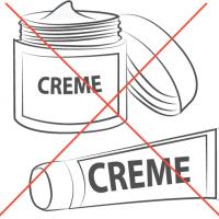 ne pas mettre de crème sur le moignon avant le chaussage du manchon et pour ne pas l'irriter