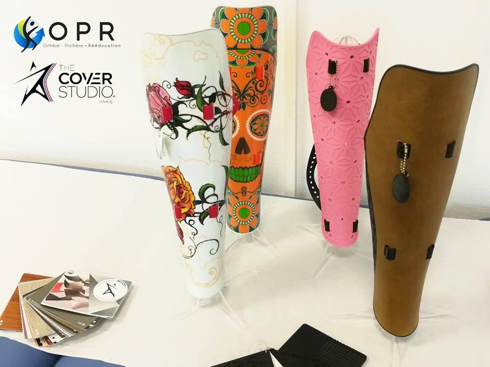 cover studio sont des esthétiques modulable pour persnnaliser les prothèses de jambe et de cuisse