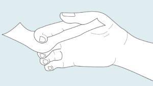 Abduction/adduction des doigtsL'adduction des doigts vous permet de saisir plusieurs objets plats et fins entre vos doigts. L'abduction se produit automatiquement lorsque vous ouvrez votre main.