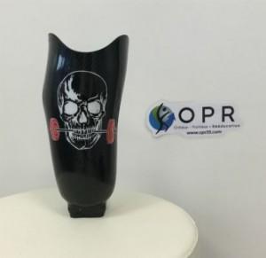 prothèse tibiale en carbone