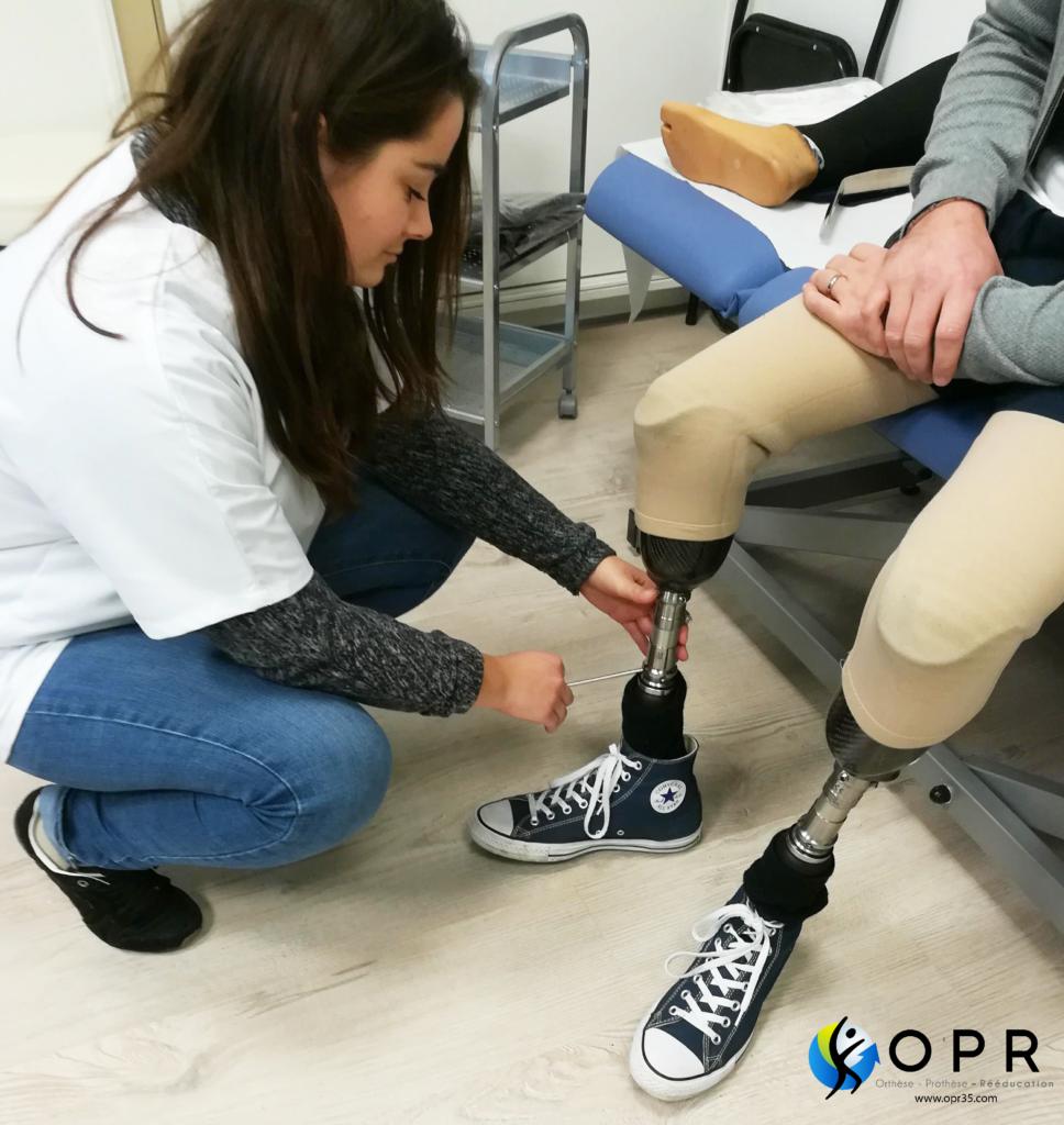 orthoprothésiste en ile et vilaine departement 35, fabrication et adaptation de prothèses tibiales pour personnes amputés