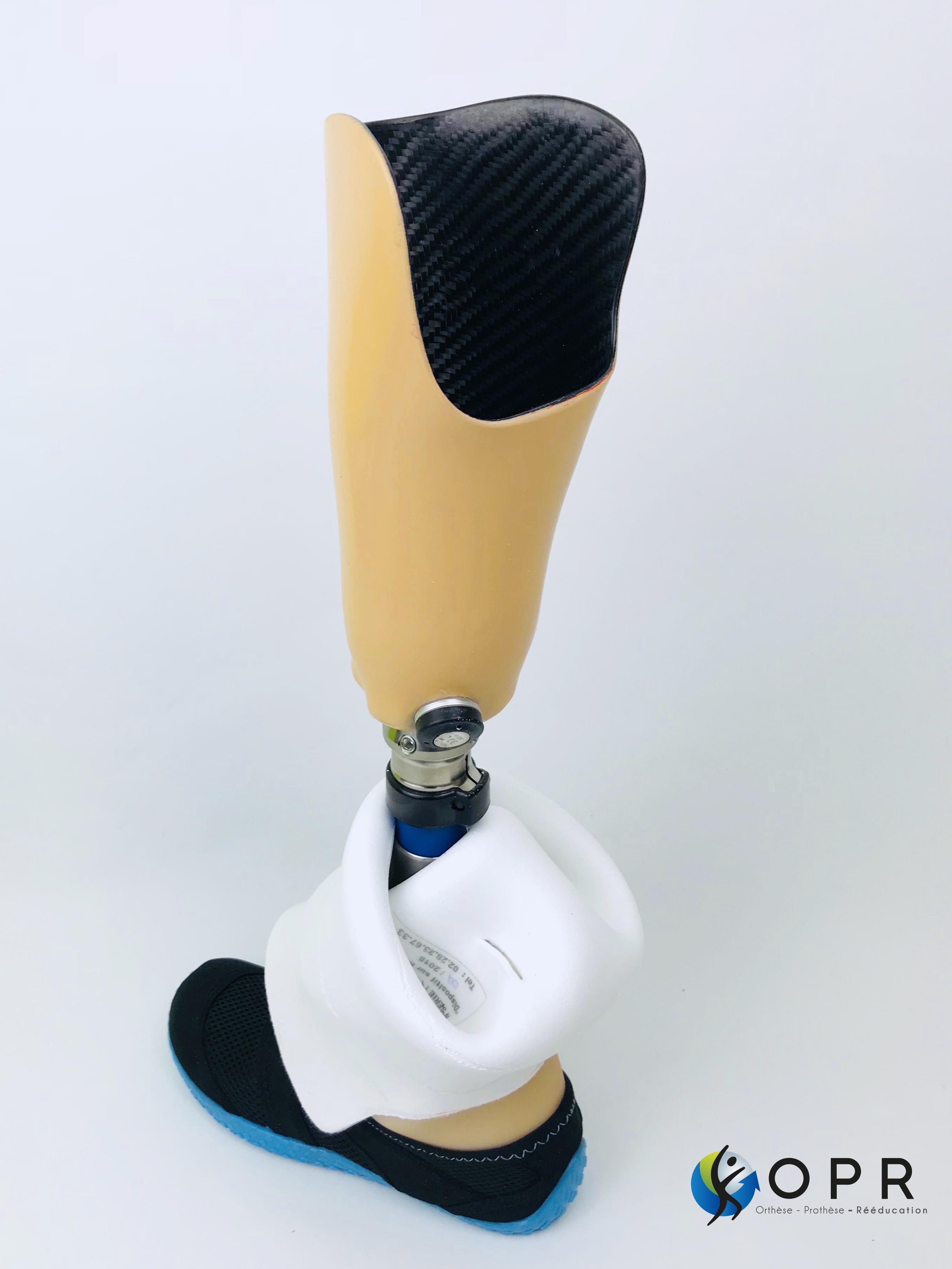 esthétique tibiale prothèse invisible de tibia fabriqué à Avranches près de saint lo
