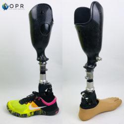 prothèse de jambe confortable avec double fut pour le confort du moignon en bretagne a rennes et a avranches en normandie