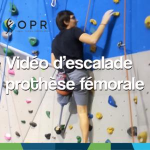 [Vidéo] Escalade avec une prothèse tibiale