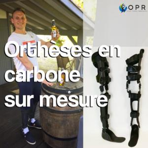 Orthèses de membre inférieur en carbone pour paraplégie