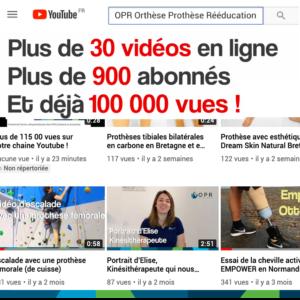 OPR est aussi sur Youtube, Plus de 100 000 vues !