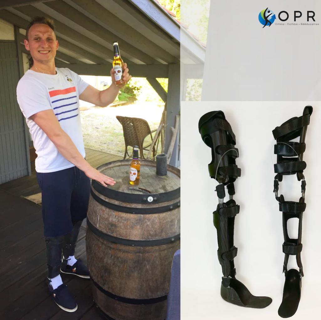Orthèses en carbone pour rééducation à la marche pour paraplégique en bretagne en en ile et vilaine et en normandie près de granvilles
