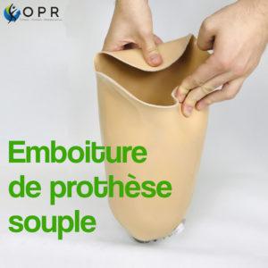 Emboîture de prothèse fémorale souple