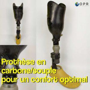 Livraison d'une prothèse en carbone double-fut