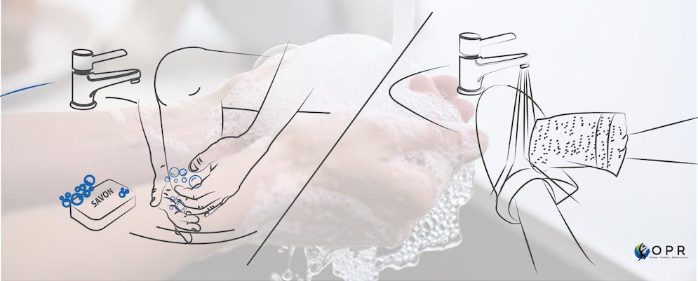 Entretiens du manchon pour les personnes amputés et lavage du moignon pour les personnes en prothèse