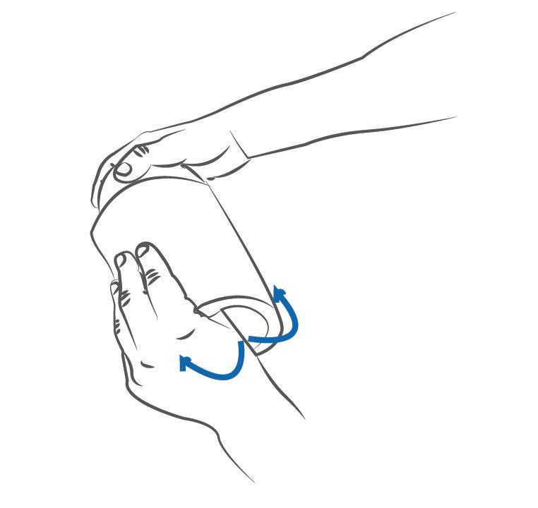 repositionner le manchon dans sa position initiale