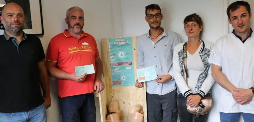 L'équipe de Nav solidaire, dans les locaux d'OPR saint lô pour le recyclage des prothèses pour les plus démunis