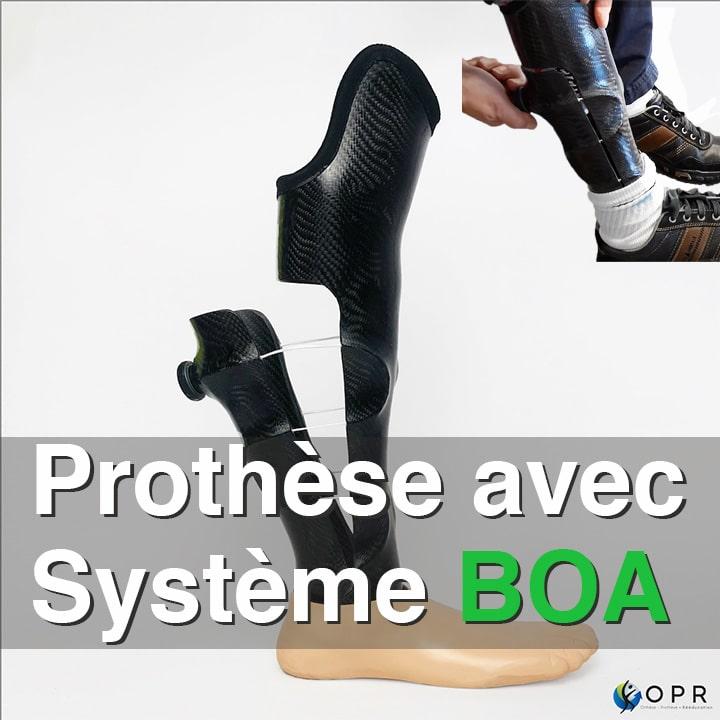 Prothèse pour amputation longue avec BOA